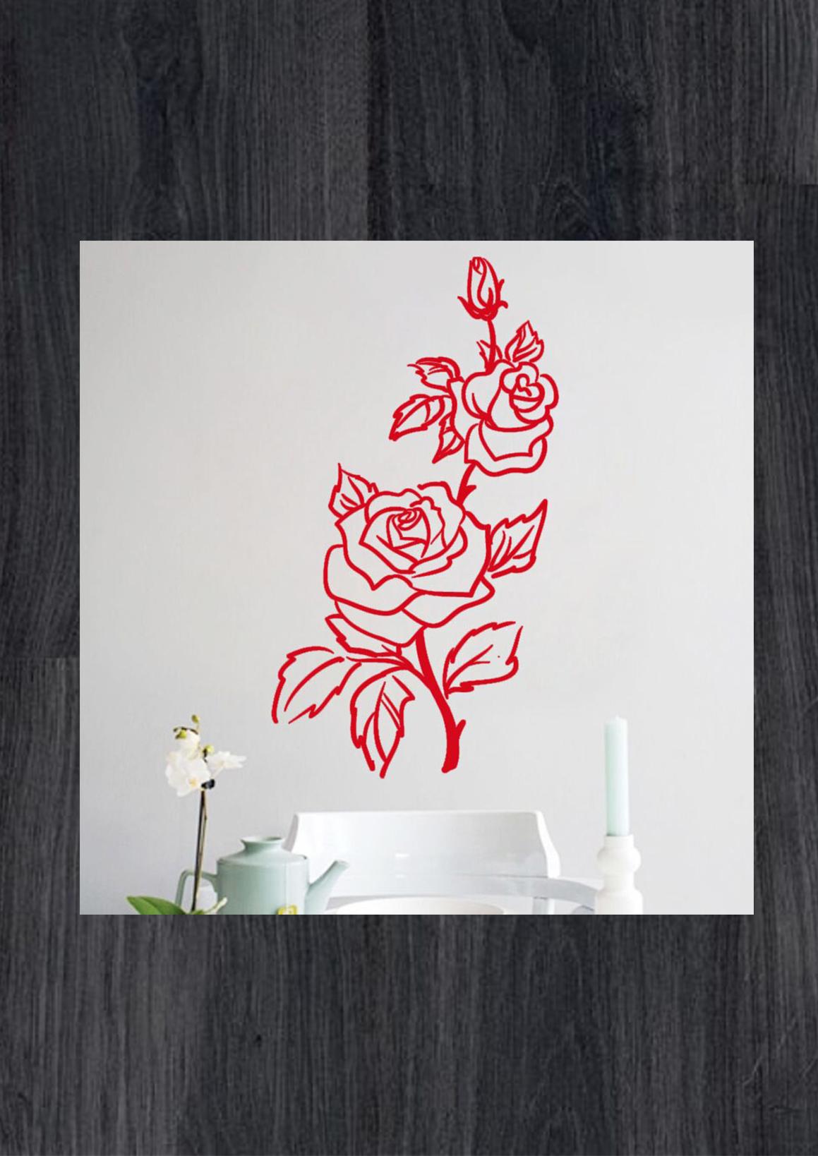 Наклейки на стену цветы