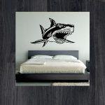 Наклейки на стену акула