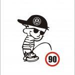 Наклейка на авто фольксваген volkswagen