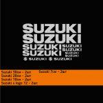 наклейки на suzuki