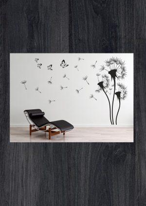 Наклейки на стену цветы одуванчики