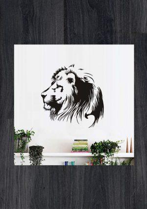 Наклейки на стену Лев