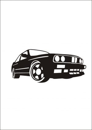 Наклейка авто на БМВ BMW